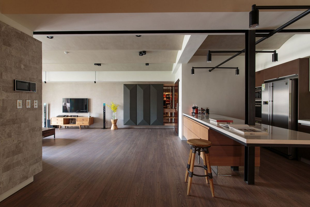 PMK+designers, Liu Residence, квартира в Тайване, обзор роскошной квартиры, обзор дизайна интерьера, большая гостиная дизайн, оформление гостиной фото
