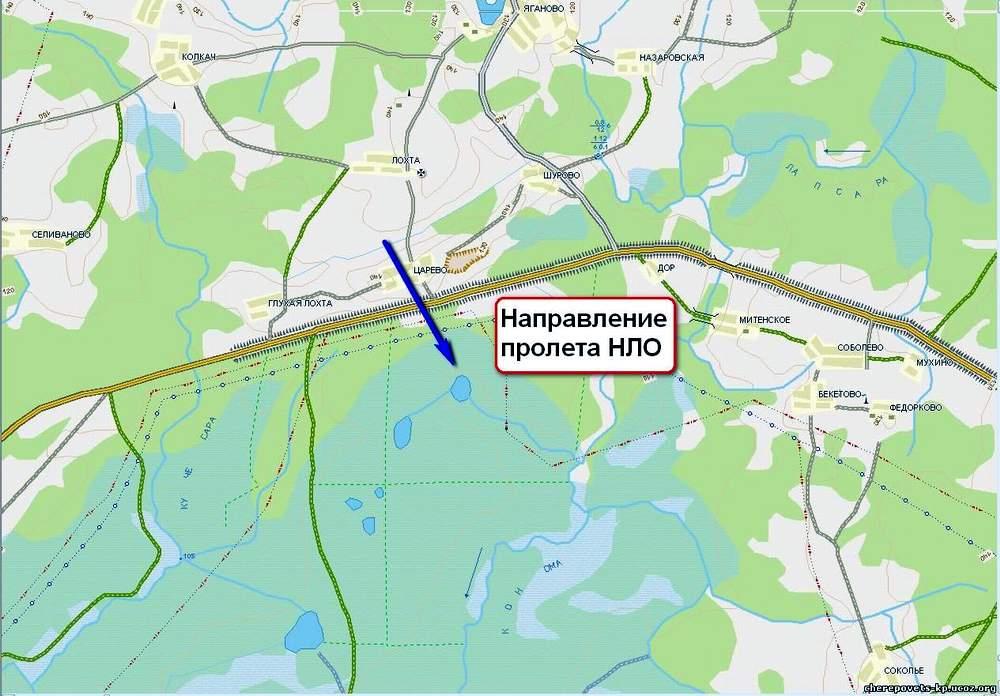 Аномальные зоны Вологодской области