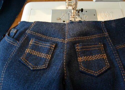 Вышивка на задние карманы