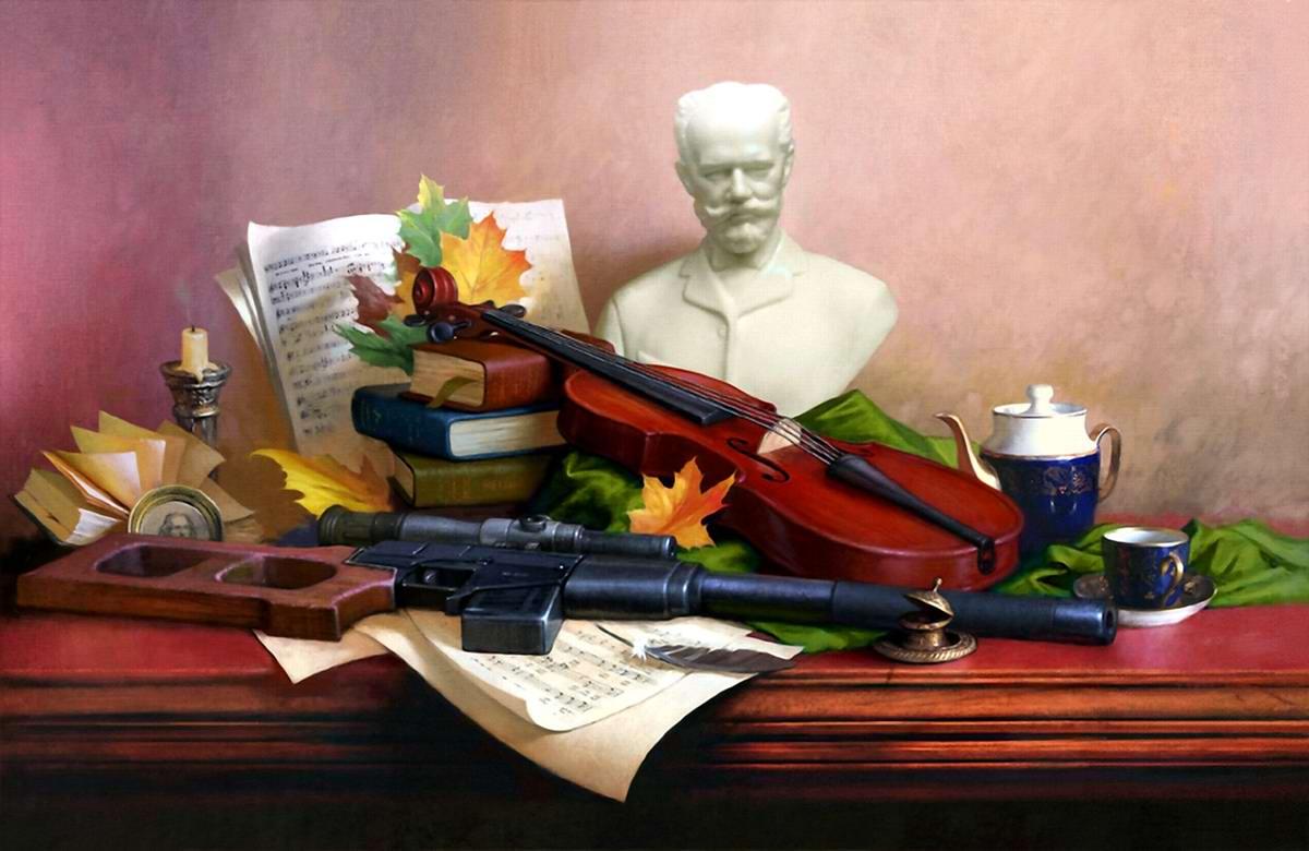 Оружейный натюрморт от студии Geliografic (4)