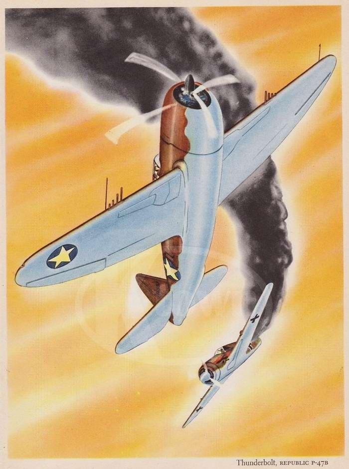 Republic P-47B Thunderbolt - истребитель-бомбардировщик
