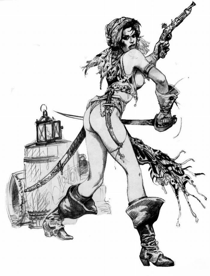 Графика: истории из жизни девушек - пираток (54)