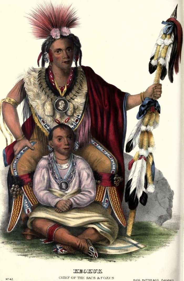 Вождь племен Sac и Fox