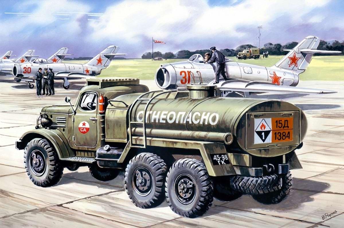 Топливозаправщик на базе грузового автомобиля ЗИЛ-157
