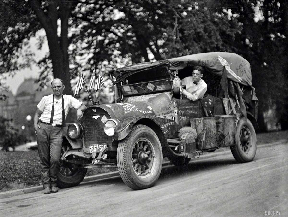 Лоскутный автомобиль Джеффа Дэвиса по прозвищу Король Бродяг (Вашингтон, 1924 год) - 2