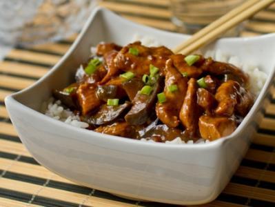 Курица с баклажанами по китайски