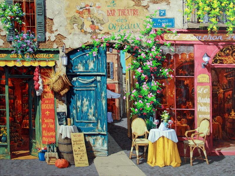 Старая улица в тихое счастье Художник Виктор Швайко