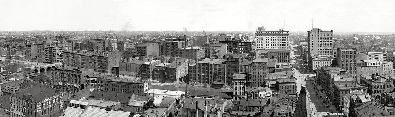 1905. Панорама Рочестера, штат Нью-Йорк