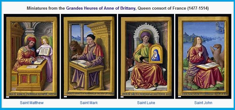 Евангелисты. Часослов Анны Бретонской _1503-1508_, Жан Бурдишон(1457_9--1521)