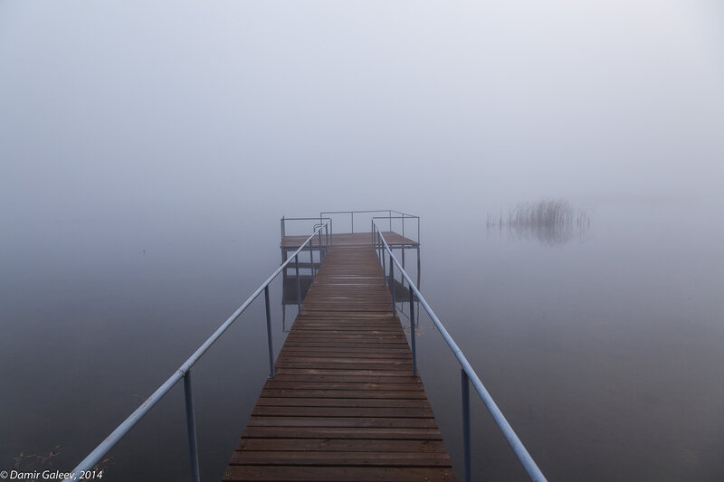 Туман. Осень. Дороги.