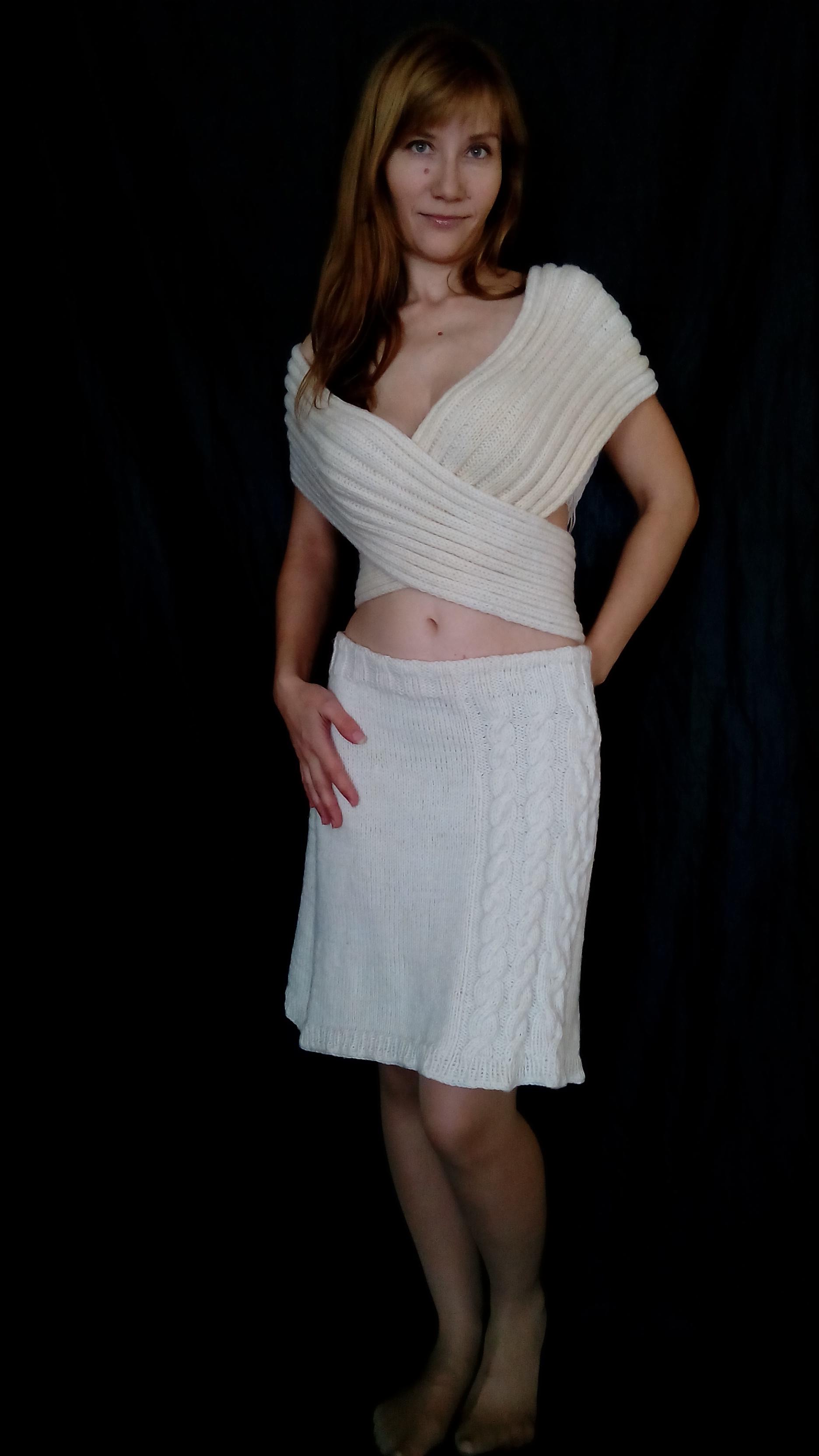 Трикотажная юбка жилет