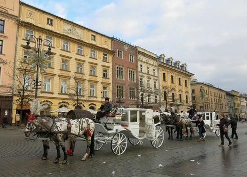 Прогулочные кареты в Кракове