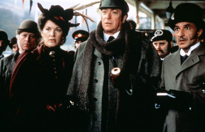 1988 г. Без единой улики. В роли Холмса Майкл Кейн