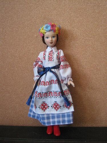 Куклы в народных костюмах №66 Кукла в девичьем костюме Витебской губернии