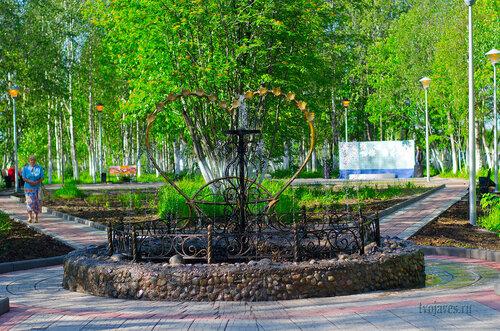Фото города Инта №7011  Первый запуск обновлённого фонтана на аллее