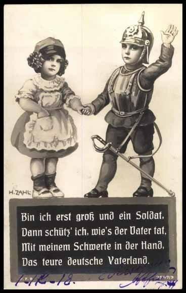 Немецкий солдат Первой Мировой на старинных открытках