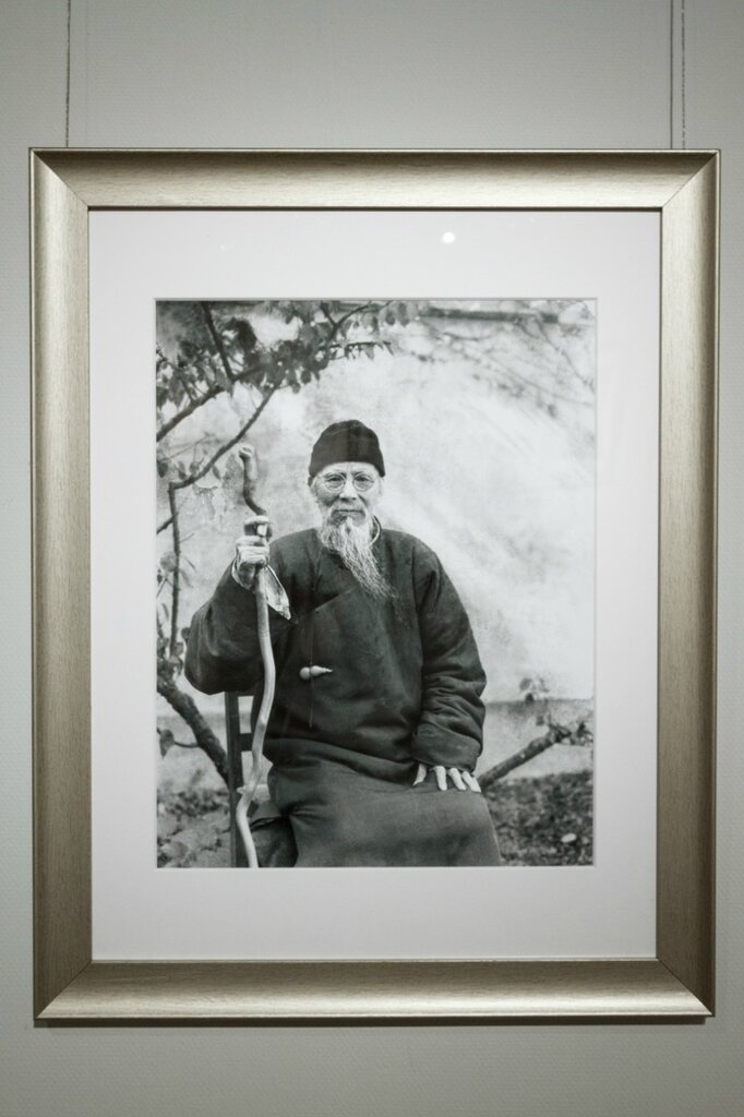 Лан Цзиншань. Фотопортрет художника Ци Байши