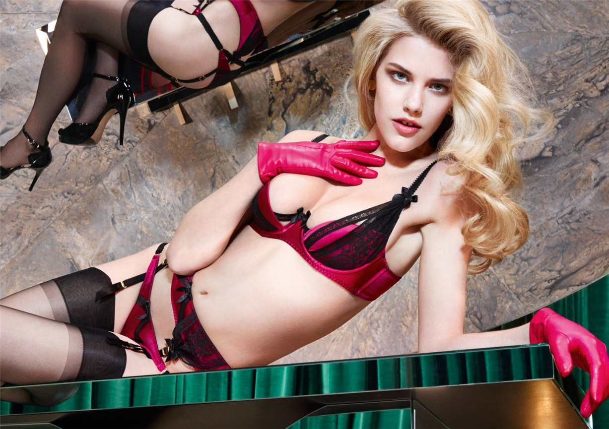 Ashley Smith, Dioni Tabbers by Christian Larson for Agent Provocateur fall/winter 2014/15 -Dolley