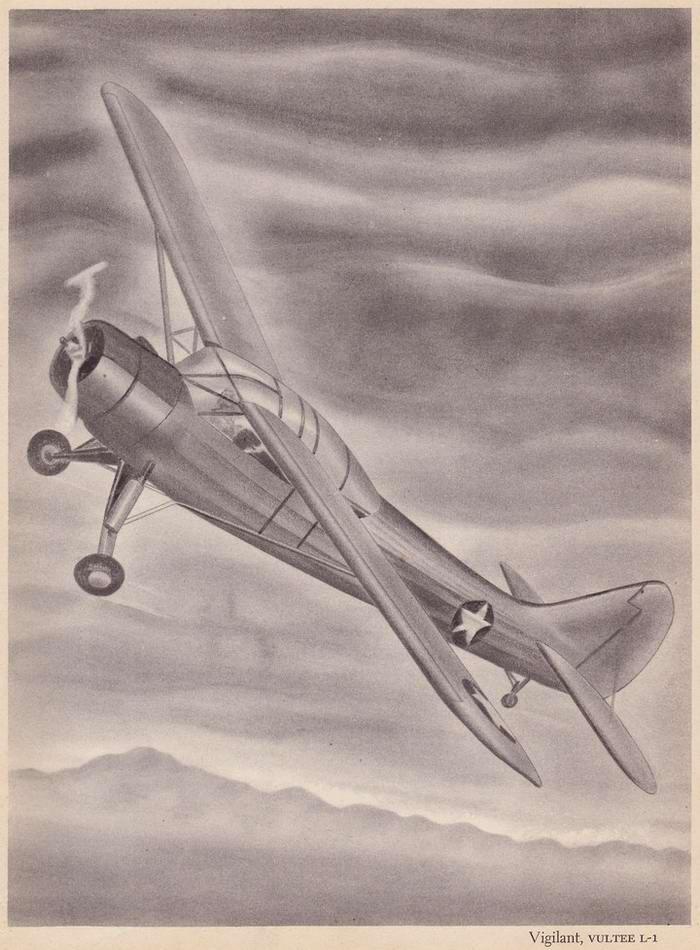 Vultee L-1 Vigilant - самолет-разведчик и корректировщик артиллерийского огня