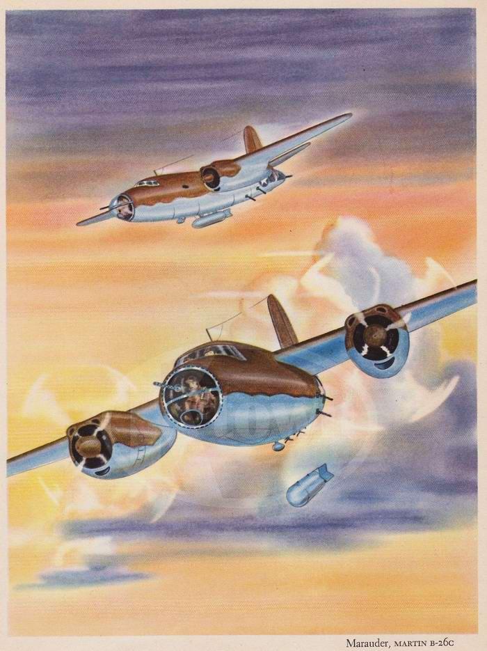 Martin B-26 Marauder - средние бомбардировщики