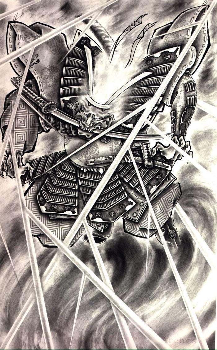 Злобные демоны на эскизах татуировок японского художника Horiyoshi (34)