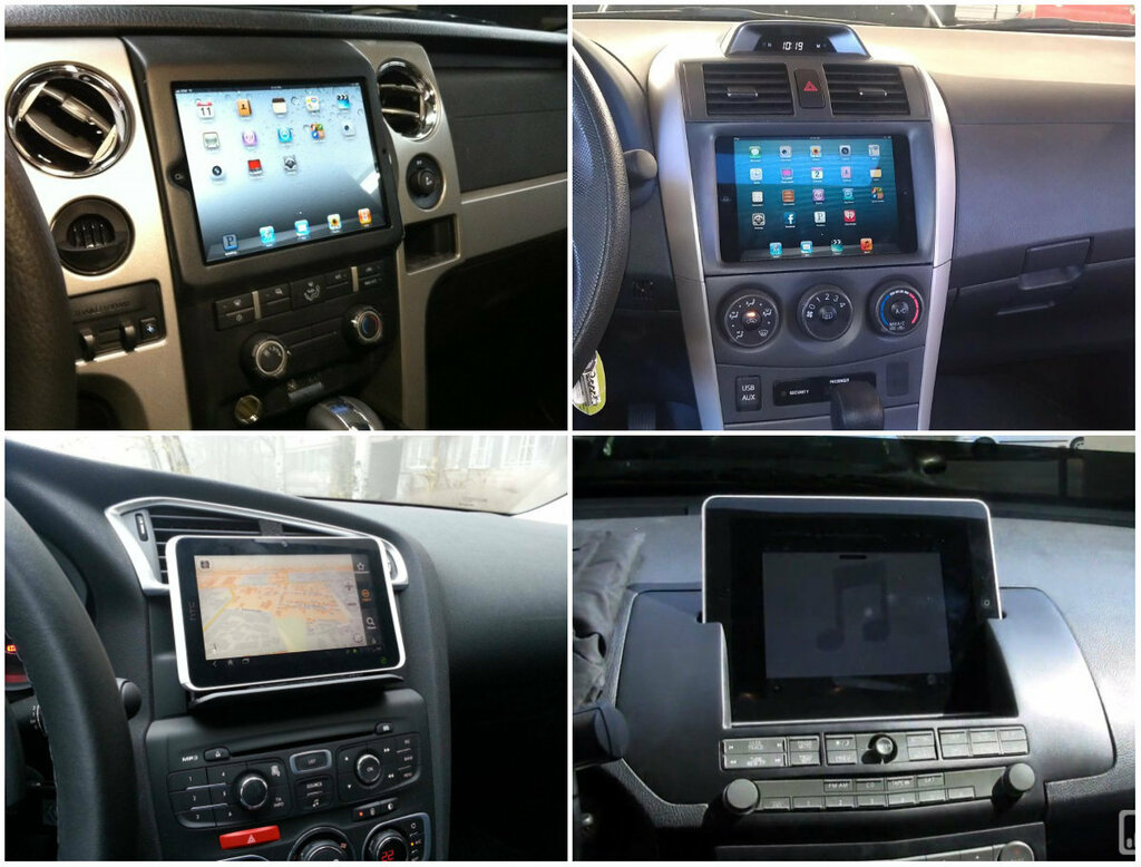 Компьютеры и планшеты в машине