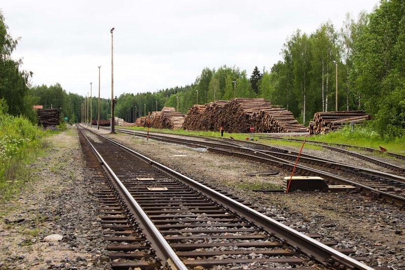 новая станция Суолахти (Suolahti) для перегрузки леса