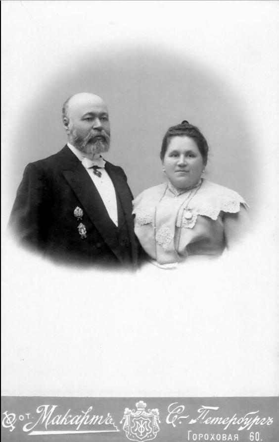 1903. Потомственный почетный гражданин купец Семенов С.Т с женой Ольгой Алексеевной