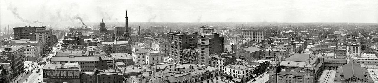 1907. Панорама Индианаполиса, штат Индиана