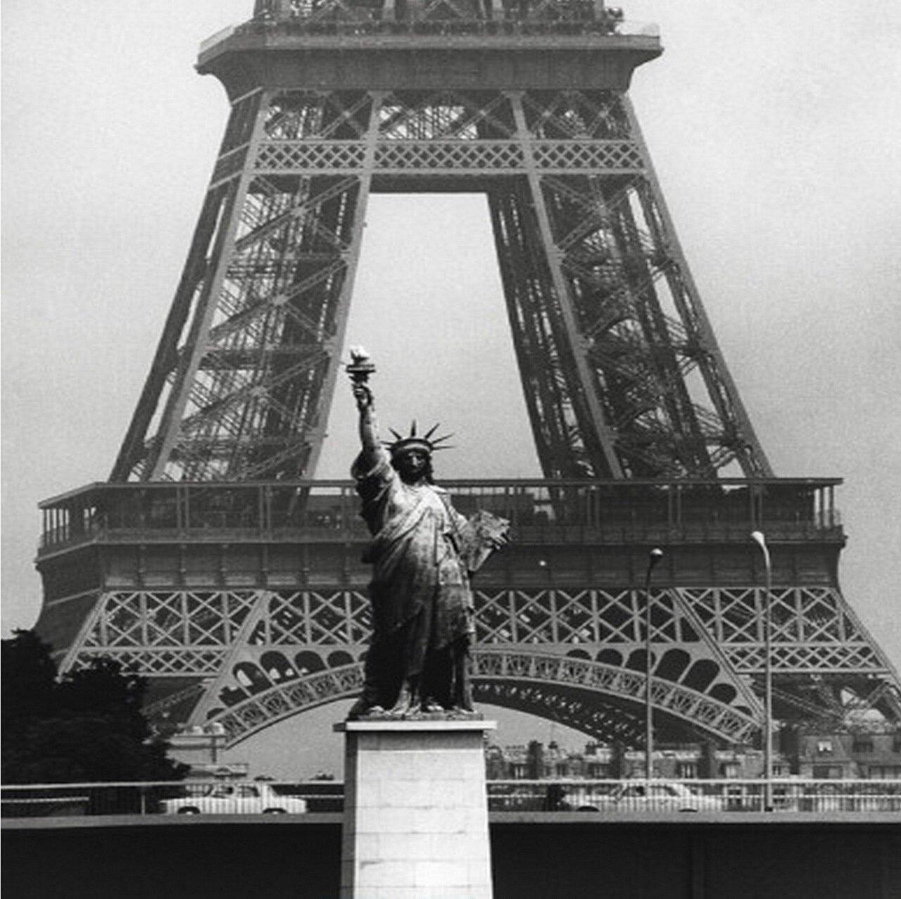 1969. Эйфелева башня и Статуя Свободы
