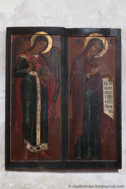 Икона Архангел Гавриил и Богородица