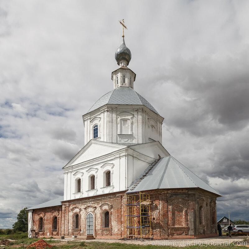 Храм Святителя Василия Великого в селе Кистыш – родине Александра Суворова