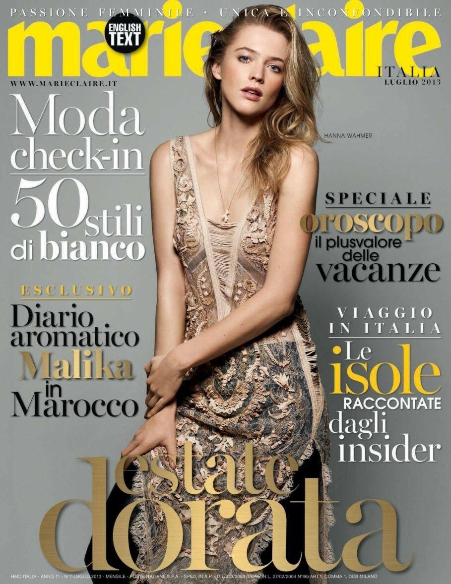 Обложка Marie Claire Italia 2013