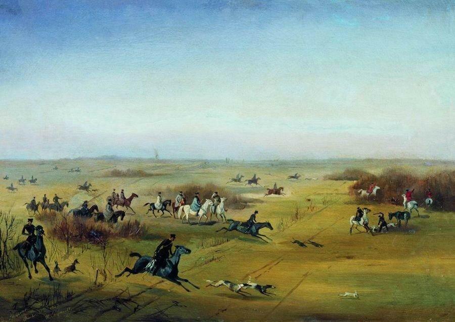 Охота в Ропше. 1857.jpg