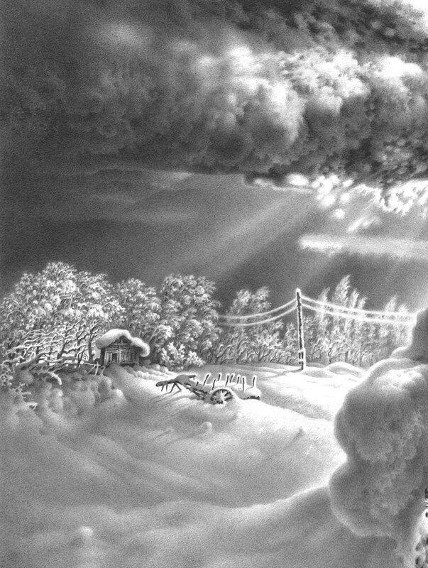 Гурам Доленджашвили. Имеретинская зима. Село Нагареви.jpg
