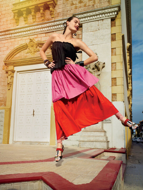 Isabeli Fontana, Karl Glusman Glamour US February 2016