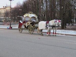 Карета с лошадьми - Новый год в Великом Новгороде