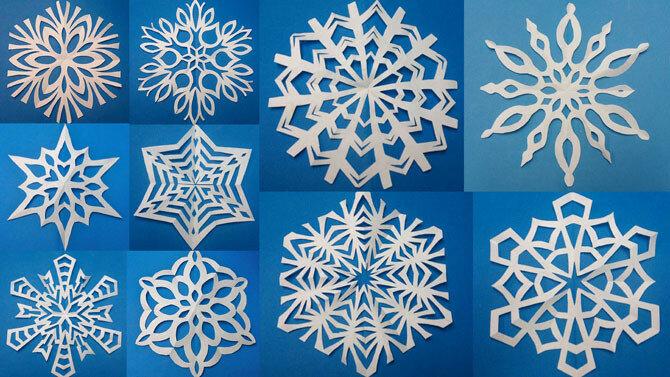 Вырезать снежинку из бумаги просто! Схемы красивых бумажных снежинок (20 шт.)