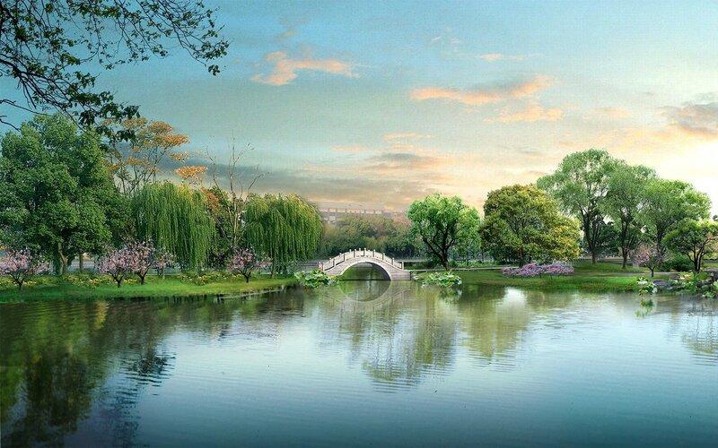 Красивые китайские пейзажи. Фотографии природы Китая, похожей на картины 0 1c4d4e 600d960d XL