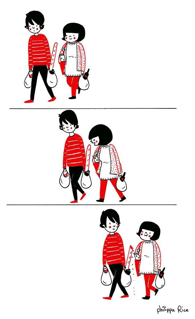 Любовь - это совместные походы за продуктами