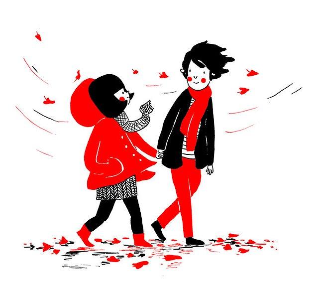 Любовь - это согреть своим теплом даже в самый холодный и ветреный день