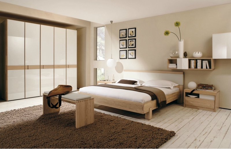 Дизайн интерьера спальни в светлых оттенках фото 14