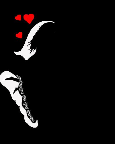Силуэты целующихся пар