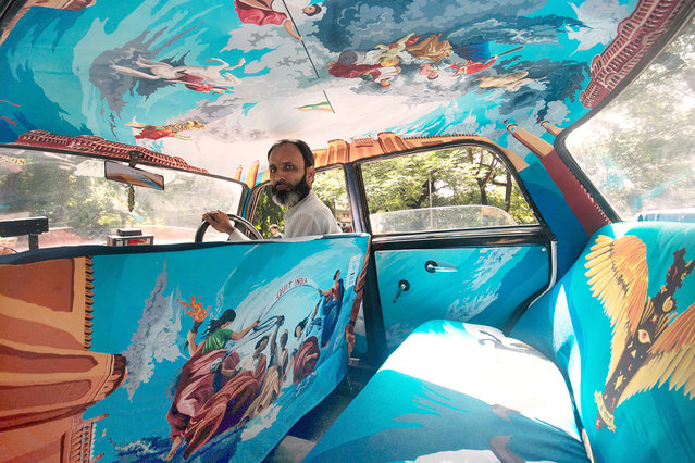 So far Taxi Fabric has produced 26 new interiors, ranging from vibrant patterns to mock-classical ar