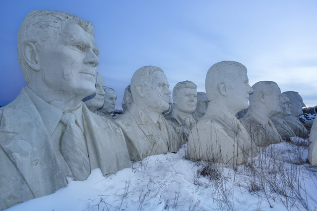 L-R: Ronald Reagan, Martin Van Buren, William McKinley, John F Kennedy, Harry S Truman, Jimmy Cater,
