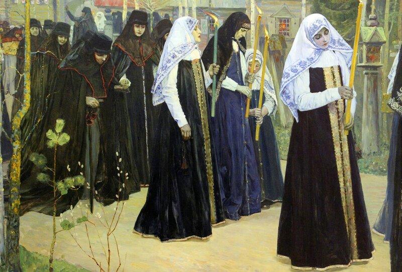 М.В. Нестеров. 1898 г. холст, масло.Великий постриг