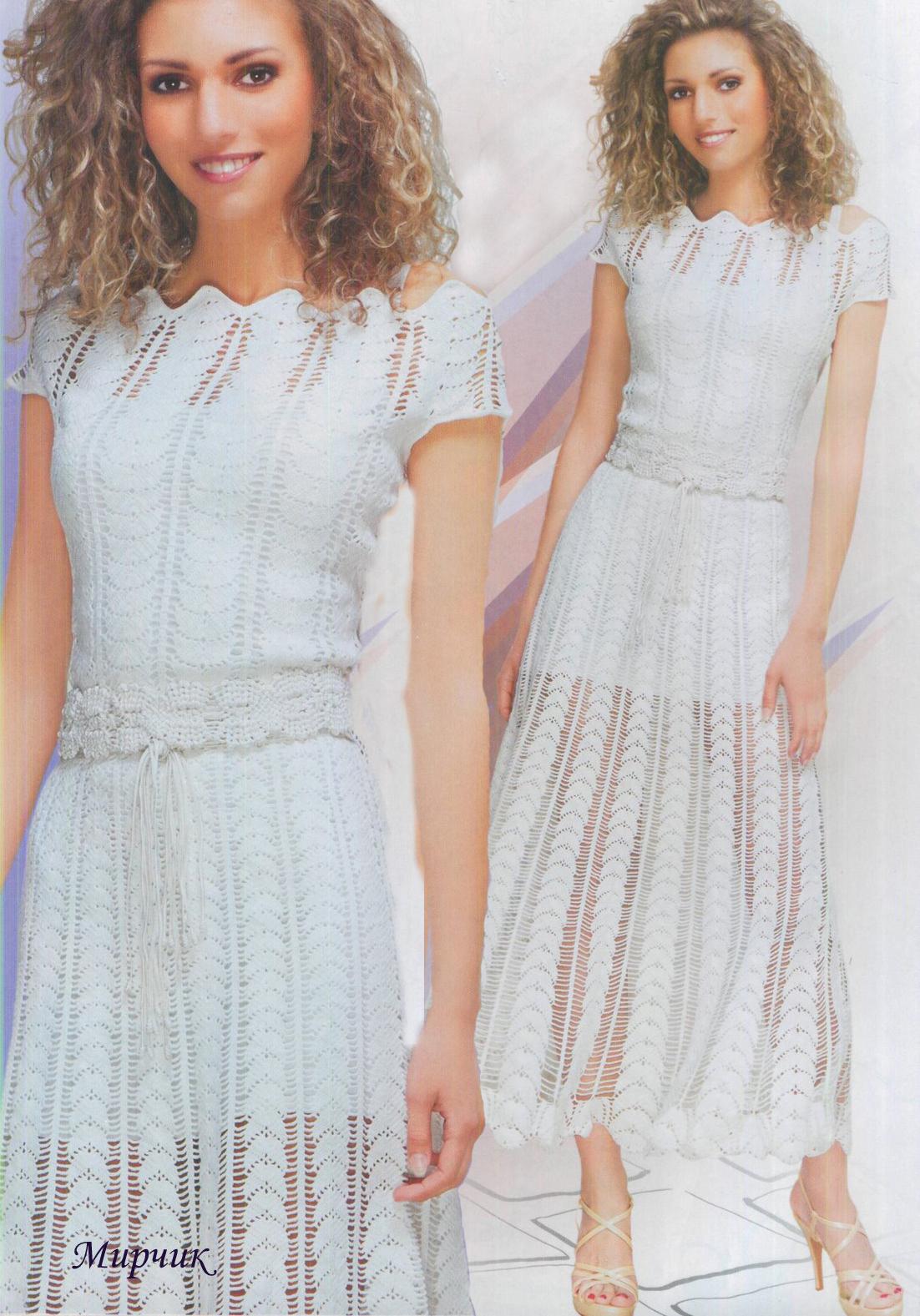 Вязание платьев в дневниках liveinternet
