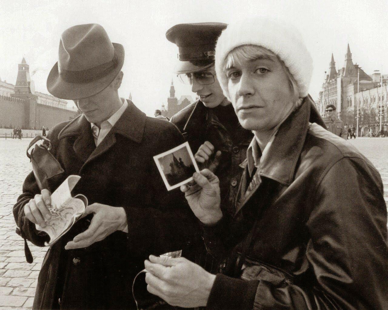 1976. Дэвид Боуи и Игги Поп на Красной площади