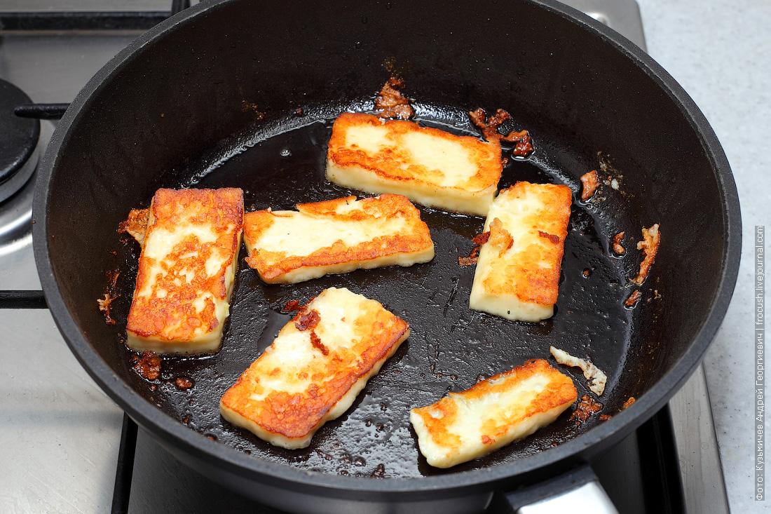 сыр Сернурский халумис жарим на сковороде
