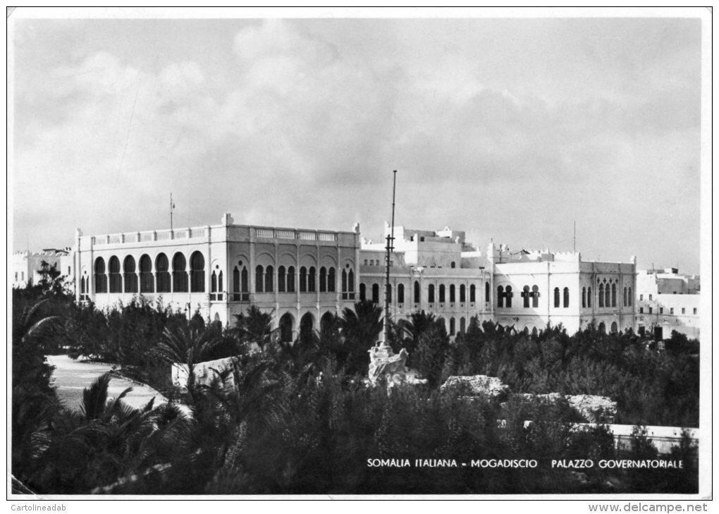 SOMALIA ITALIANA - MOGADISCIO - PALAZZO GOVERNATORIALE - Viaggiata1936.jpg